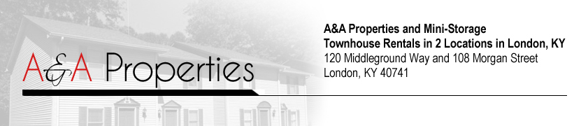 Townhouse Rentals and Storage, London, KY